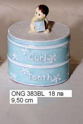"""Кутийка за бижута """"За бебе синя"""""""
