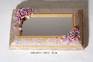 """Кутия за бижута с огледало """"Рози"""""""