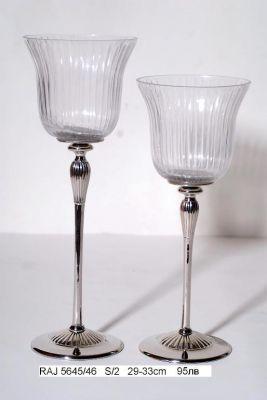 Комплект кристални свещници