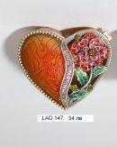 """Кутийка за бижута """"Сърце с роза"""""""